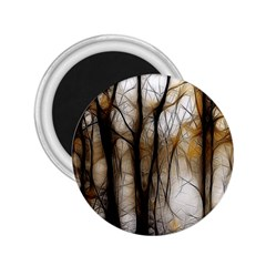 Fall Forest Artistic Background 2.25  Magnets