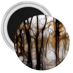 Fall Forest Artistic Background 3  Magnets