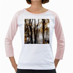 Fall Forest Artistic Background Girly Raglans