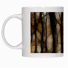 Fall Forest Artistic Background White Mugs