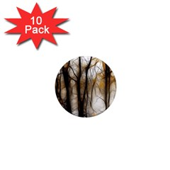 Fall Forest Artistic Background 1  Mini Magnet (10 Pack)