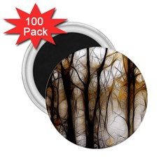 Fall Forest Artistic Background 2.25  Magnets (100 pack)