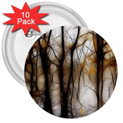 Fall Forest Artistic Background 3  Buttons (10 pack)