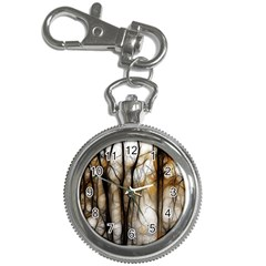 Fall Forest Artistic Background Key Chain Watches