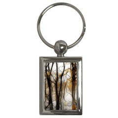 Fall Forest Artistic Background Key Chains (rectangle)