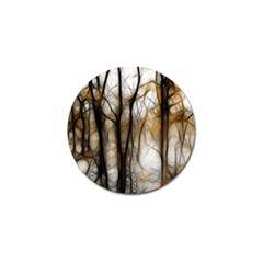 Fall Forest Artistic Background Golf Ball Marker