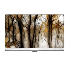 Fall Forest Artistic Background Business Card Holders