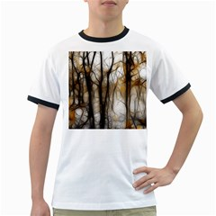 Fall Forest Artistic Background Ringer T Shirts