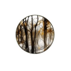 Fall Forest Artistic Background Hat Clip Ball Marker
