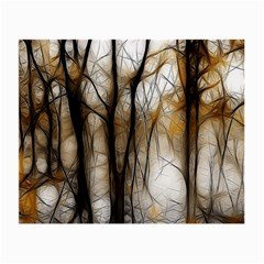 Fall Forest Artistic Background Small Glasses Cloth