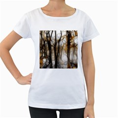 Fall Forest Artistic Background Women s Loose Fit T Shirt (white)