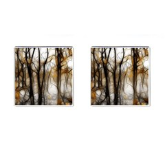 Fall Forest Artistic Background Cufflinks (Square)