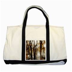 Fall Forest Artistic Background Two Tone Tote Bag