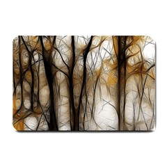 Fall Forest Artistic Background Small Doormat