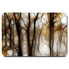 Fall Forest Artistic Background Large Doormat