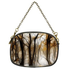 Fall Forest Artistic Background Chain Purses (two Sides)