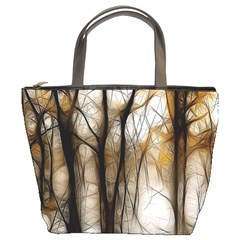 Fall Forest Artistic Background Bucket Bags
