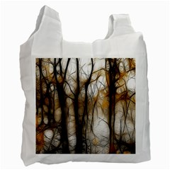 Fall Forest Artistic Background Recycle Bag (One Side)