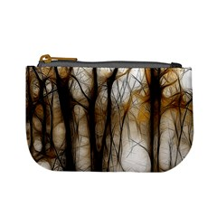 Fall Forest Artistic Background Mini Coin Purses