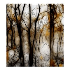 Fall Forest Artistic Background Shower Curtain 66  X 72  (large)