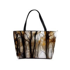 Fall Forest Artistic Background Shoulder Handbags