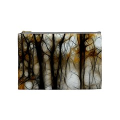 Fall Forest Artistic Background Cosmetic Bag (Medium)