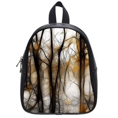 Fall Forest Artistic Background School Bags (Small)