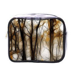 Fall Forest Artistic Background Mini Toiletries Bags