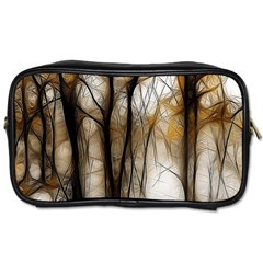 Fall Forest Artistic Background Toiletries Bags 2-Side