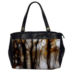 Fall Forest Artistic Background Office Handbags