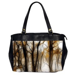 Fall Forest Artistic Background Office Handbags (2 Sides)