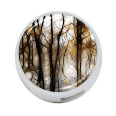 Fall Forest Artistic Background 4 Port Usb Hub (one Side)
