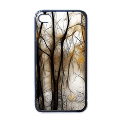 Fall Forest Artistic Background Apple iPhone 4 Case (Black)