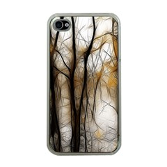 Fall Forest Artistic Background Apple iPhone 4 Case (Clear)