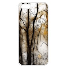 Fall Forest Artistic Background Apple Iphone 5 Seamless Case (white)