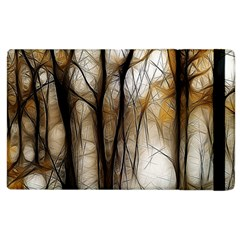 Fall Forest Artistic Background Apple Ipad 3/4 Flip Case