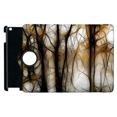 Fall Forest Artistic Background Apple iPad 3/4 Flip 360 Case