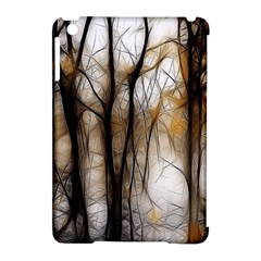 Fall Forest Artistic Background Apple iPad Mini Hardshell Case (Compatible with Smart Cover)