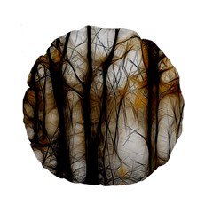 Fall Forest Artistic Background Standard 15  Premium Round Cushions