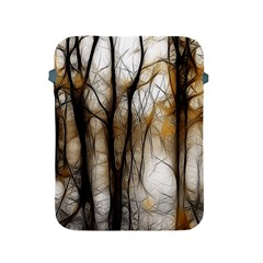 Fall Forest Artistic Background Apple iPad 2/3/4 Protective Soft Cases