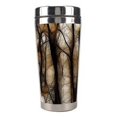 Fall Forest Artistic Background Stainless Steel Travel Tumblers