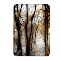 Fall Forest Artistic Background Samsung Galaxy Tab 2 (10 1 ) P5100 Hardshell Case
