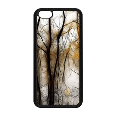 Fall Forest Artistic Background Apple iPhone 5C Seamless Case (Black)