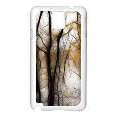 Fall Forest Artistic Background Samsung Galaxy Note 3 N9005 Case (white)