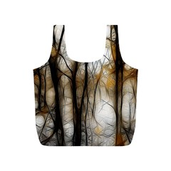 Fall Forest Artistic Background Full Print Recycle Bags (S)