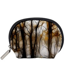 Fall Forest Artistic Background Accessory Pouches (Small)