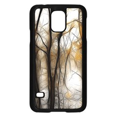 Fall Forest Artistic Background Samsung Galaxy S5 Case (black)