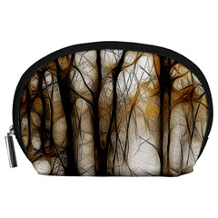 Fall Forest Artistic Background Accessory Pouches (large)