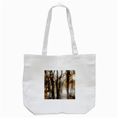 Fall Forest Artistic Background Tote Bag (white)