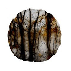 Fall Forest Artistic Background Standard 15  Premium Flano Round Cushions